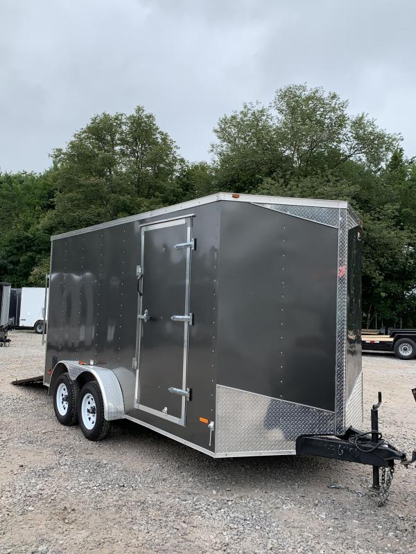 "USED* 2017 RC 7X14 +2ft V trailer ramp door/12"" extra height"