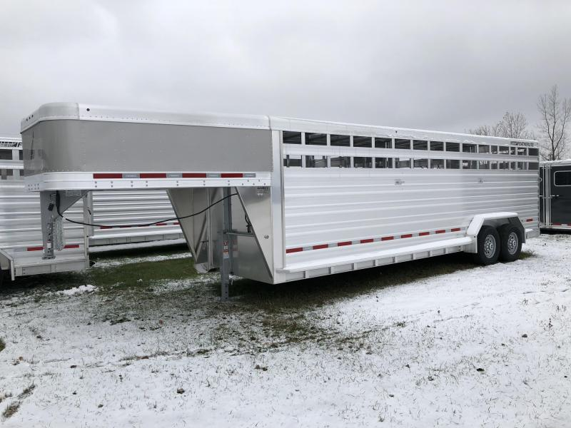 2018 Featherlite 8127 24' Stock Trailer