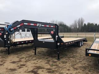 2019 PJ Trailers 27' Flatbed Trailer