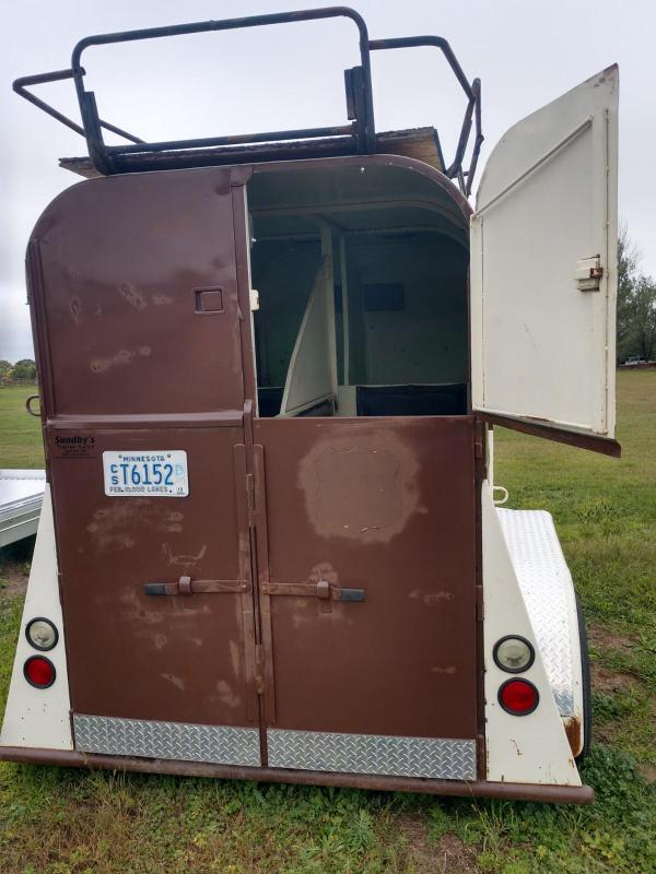 1972 Jackson 2 Horse Straight Load Horse Trailer
