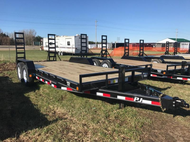 "2017 PJ 20'X6"" CHANNEL 7K AXLES 2' DOVETAIL W/5' FOLD UP RAMPS"
