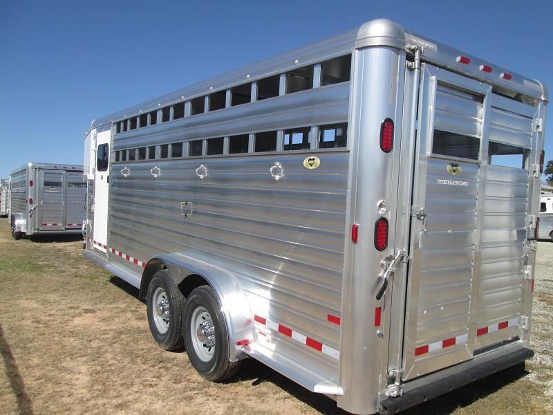 2018 hart trailers lariat 20 ft gn 4 ft dr livestock trailer stock