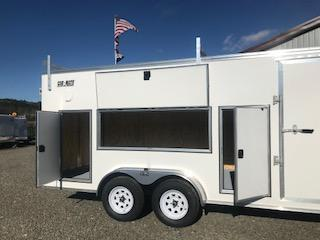2019 Car Mate Trailers CM718CC-HD/CTR - 7W Tandem Axle Custom Cargo Contractor Trailer Enclosed Cargo Trailer