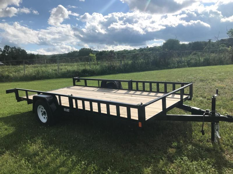 2017 Car Mate CM612A/W Angle Utility Trailer