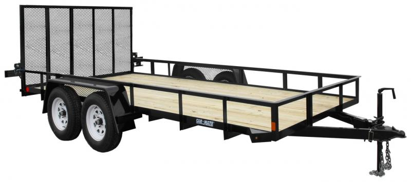 2019 Car Mate Trailers CM616A-HD/W Tandem Axle Utility Trailer