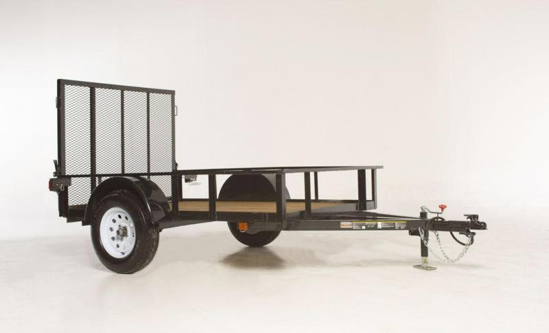 "2018 - 5' x 8' Utility Trailer. 48"" Ramp Gate with slam latches."