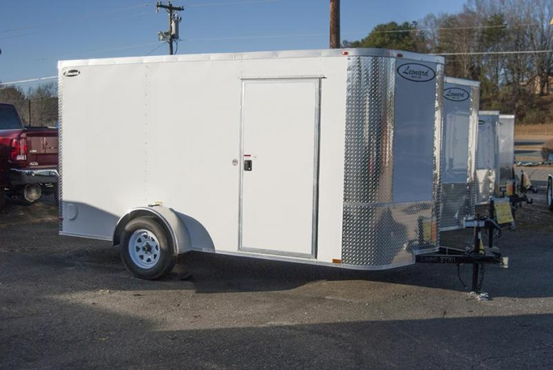 6x12 SIngle-Axle Cargo Trailer. Aluminum body with V-Nose. Built to last!
