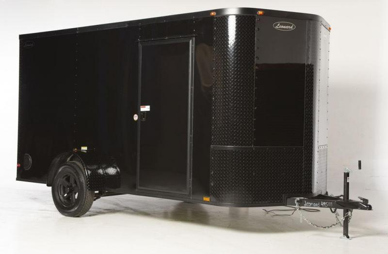 Limited Black Edition 6x12 SIngle-Axle Cargo Trailer. Aluminum body with V-Nose. Built to last!