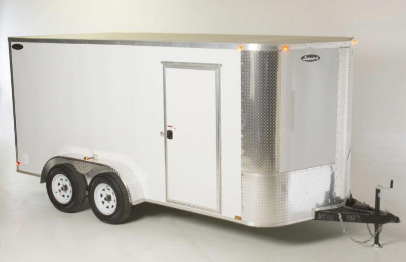 7 x 14 Tandem-Axle Cargo Trailer. Aluminum body with V-Nose. Built to last!
