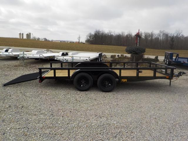 2019 Big Tex Trailers 70PI 16BK 4RG Utility Trailer