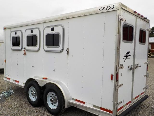 2003 Exiss Trailers DH 716 - V EVENT SS 30 -7X16 3 - HORSE SLANT L Livestock Trailer