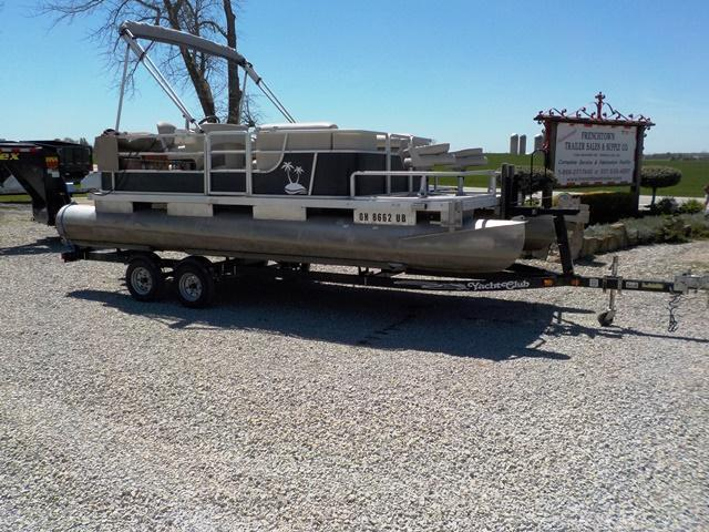 1983 Harris 20' Pontoon Boat & Trailer - USED