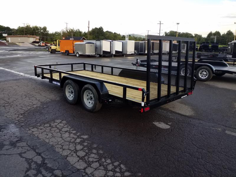2020 Sure-Trac 7X16 7K TUBE TOP Utility Trailer