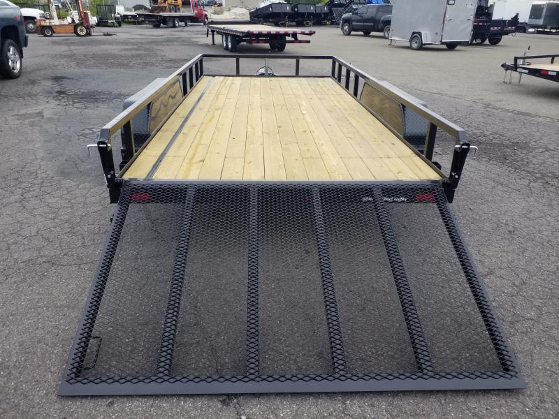 2019 Sure-Trac 7x16 TUBE TOP Utility Trailer