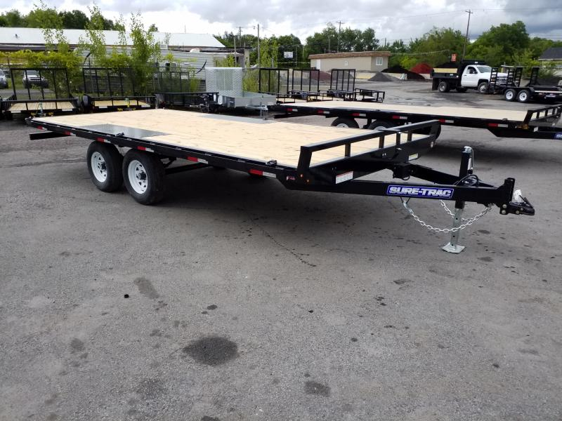 2019 Sure-Trac 18 10K DECKOVER - RAMPS Flatbed Trailer