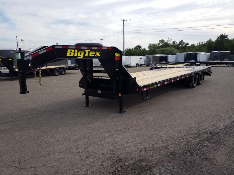 2019 Big Tex Trailers 22GN-255 MEGA RAMPS Flatbed Trailer