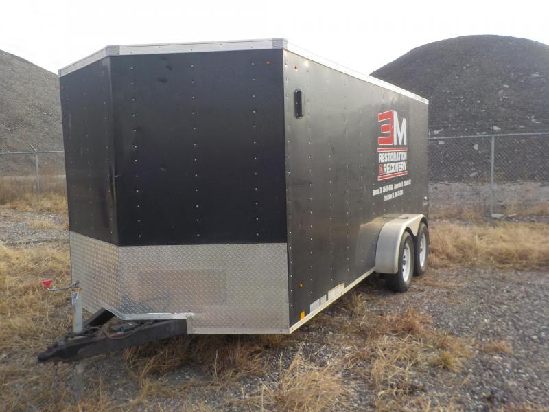 2012 Look Trailers 7x16 Enclosed Cargo Trailer