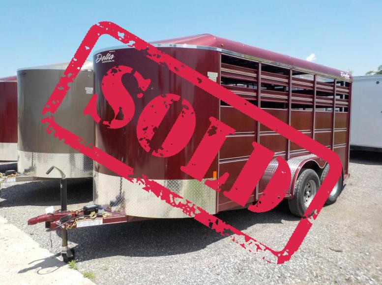 2018 Delta Manufacturing 16x6 500 ES Livestock Trailer in Ashburn, VA