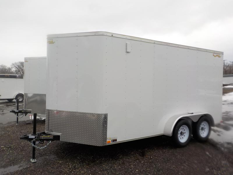 2019 Doolittle Trailer Mfg 7x14 White T/A Ramp Door Enclosed Cargo Trailer