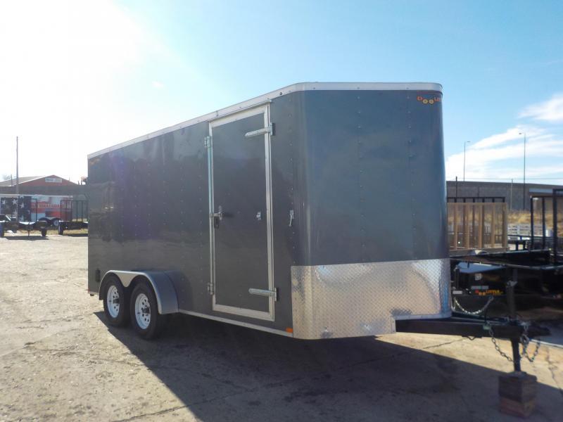 RENTAL - 2018 Doolittle Trailer Mfg 7x16 Gray Enclosed Cargo Trailer