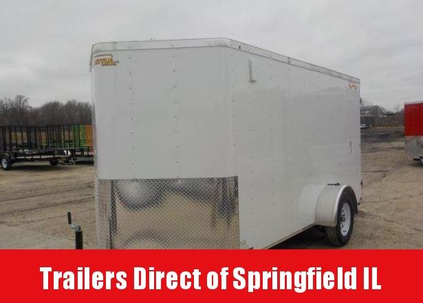 2019 Doolittle Trailer Mfg 6x12 CARGO WHITE S/A Enclosed Cargo Trailer