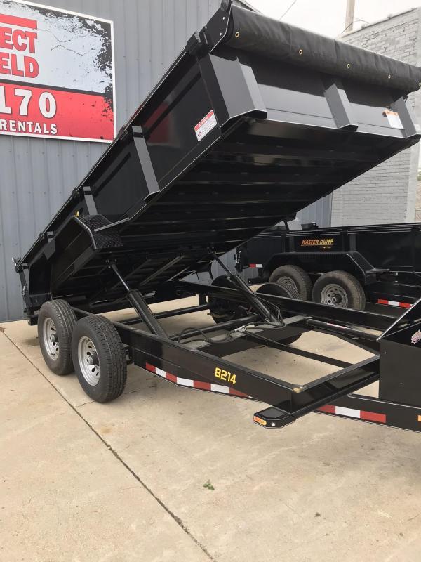 2019 Doolittle Trailer Mfg Masterdump 8200 Series 82 x 14 Tandem Axle 14K Dump Trailer