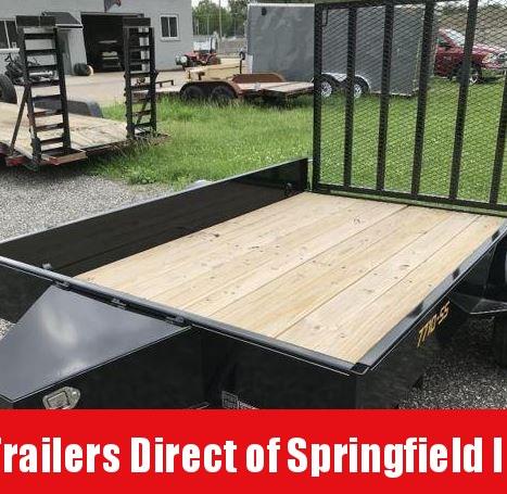 2019 Doolittle Trailer Mfg 77x10 S/A SS Series Black Utility Trailer