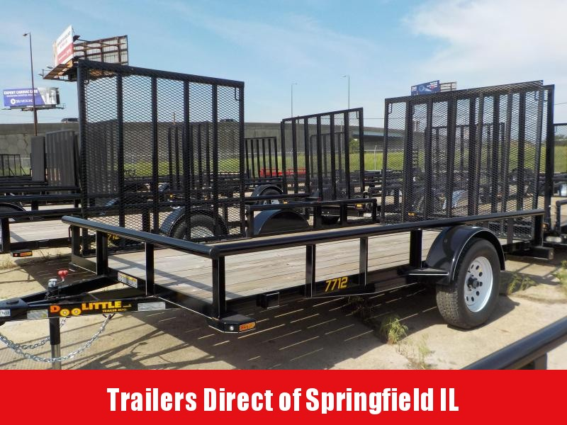 2017 Doolittle Trailer Mfg 77 x 12 Single Axle 3K Utility Trailer