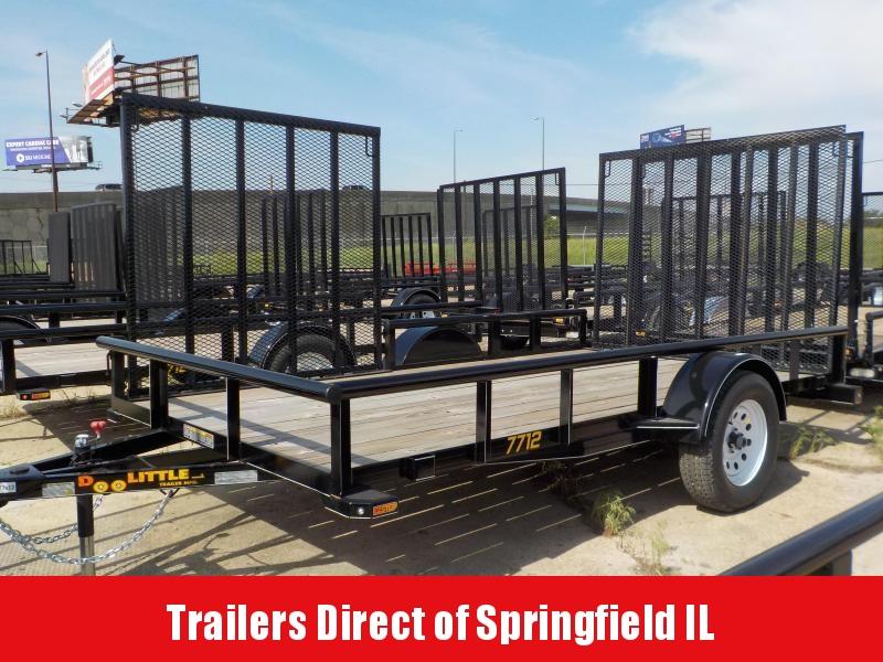 2017 Doolittle Trailer Mfg 77 x 12 Single Axle 3K Utility Trailer