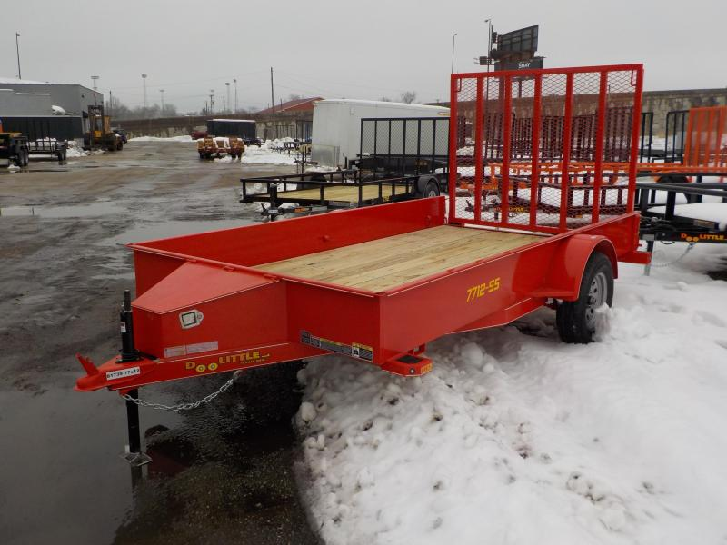 2019 Doolittle Trailer Mfg 77x12 SS S/A RED Utility Trailer