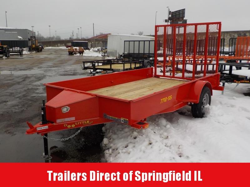 2019 Doolittle Trailer Mfg 77x12 SS S/A RED Utility Trailer