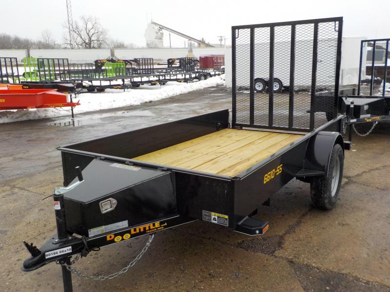 2019 Doolittle Trailer Mfg 66x10 SS Series S/A Black Utility Trailer
