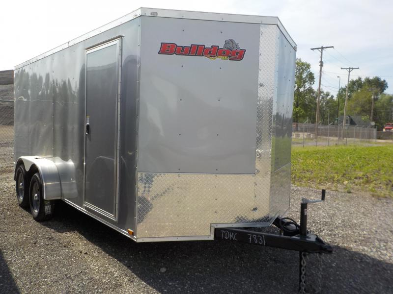 2018 Doolittle Trailer Mfg Bulldog Cargo 7x16 T/A 7K