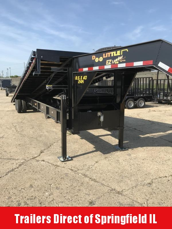 2019 Doolittle Trailer Mfg Full Tilt 102x40 EZ Loader 24K Equipment Trailer