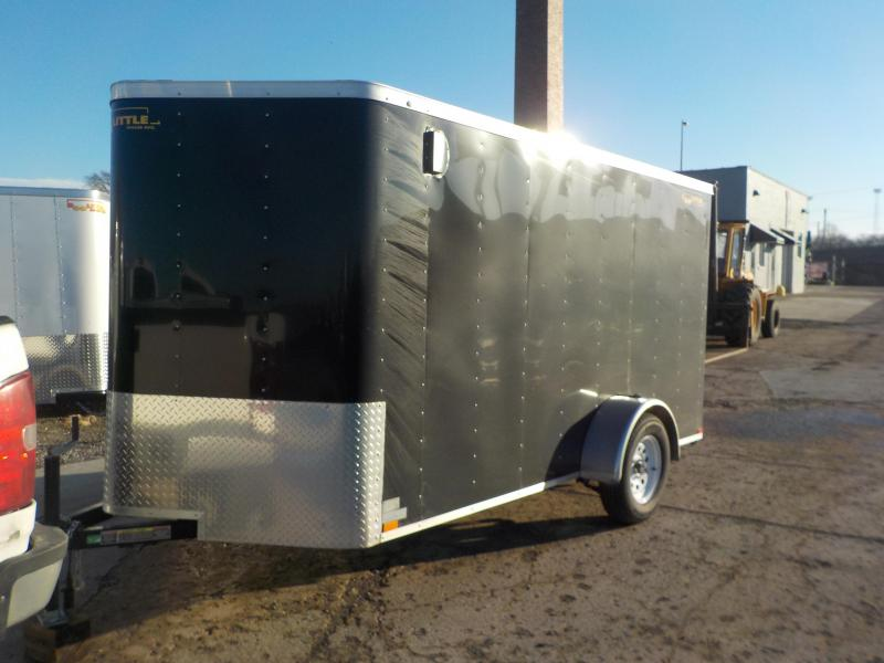 2019 Doolittle Trailer Mfg 6x12 S/A Black Enclosed Cargo Trailer