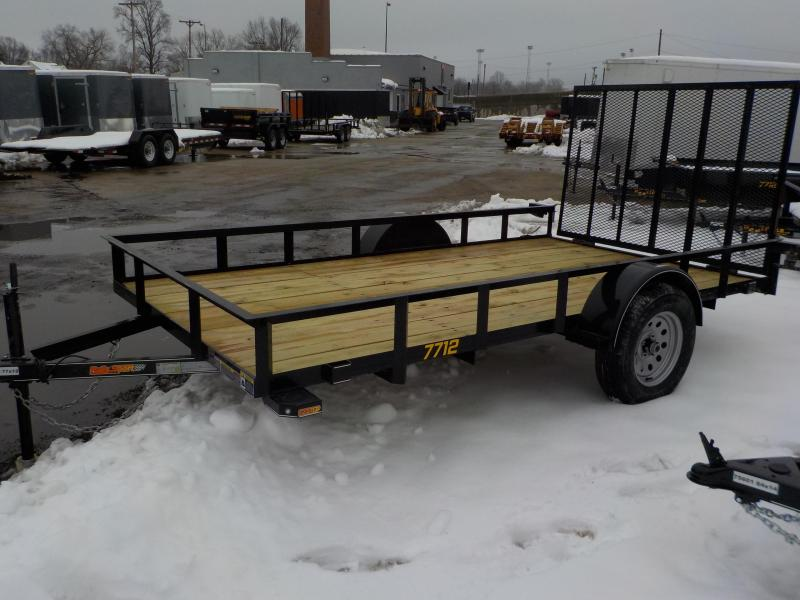 2019 Doolittle Trailer Mfg 77x12 Rally Sport Black Utility Trailer