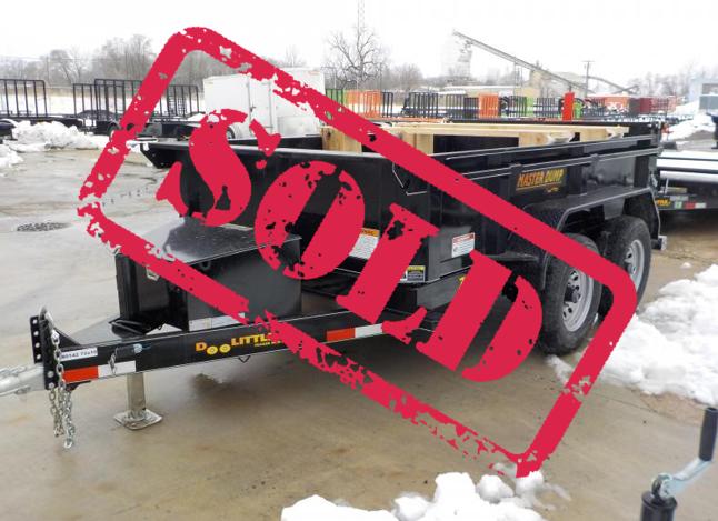2019 Doolittle Trailer Mfg 72x10 10K Cylinder Black Dump Trailer in Ashburn, VA