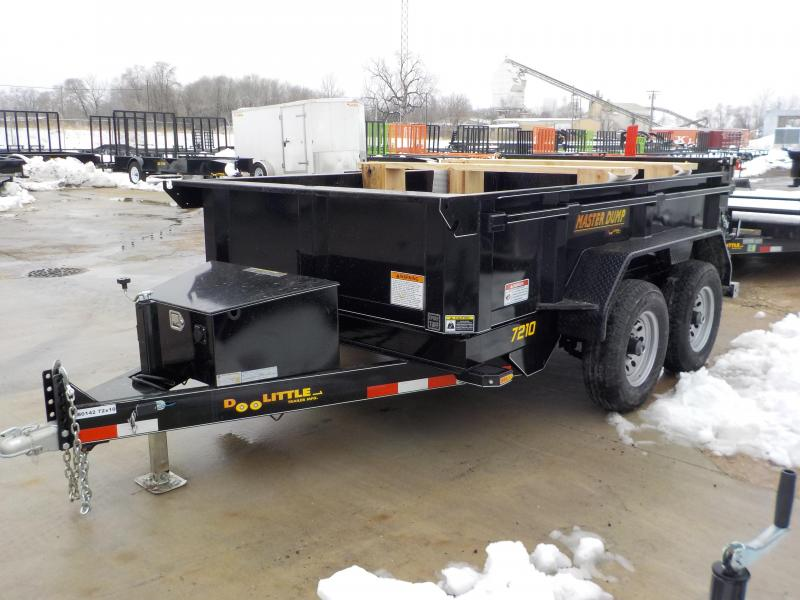 2019 Doolittle Trailer Mfg 72x10 10K Cylinder Black Dump Trailer