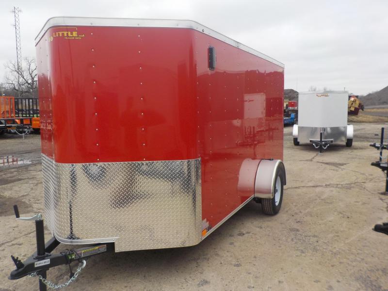 RENTAL - 2019 Doolittle Trailer Mfg 6x12 CARGO RED S/A Enclosed Cargo Trailer