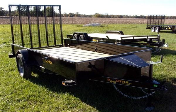 "New 2019 Doolittle 77"" x 12 Solid Metal Sides SA SS Series Utility Trailer"