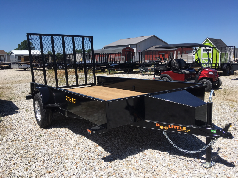 2019 Doolittle Trailer Mfg 77 x 12 SS SERIES Utility Trailer + ALUMINUM WHEELS