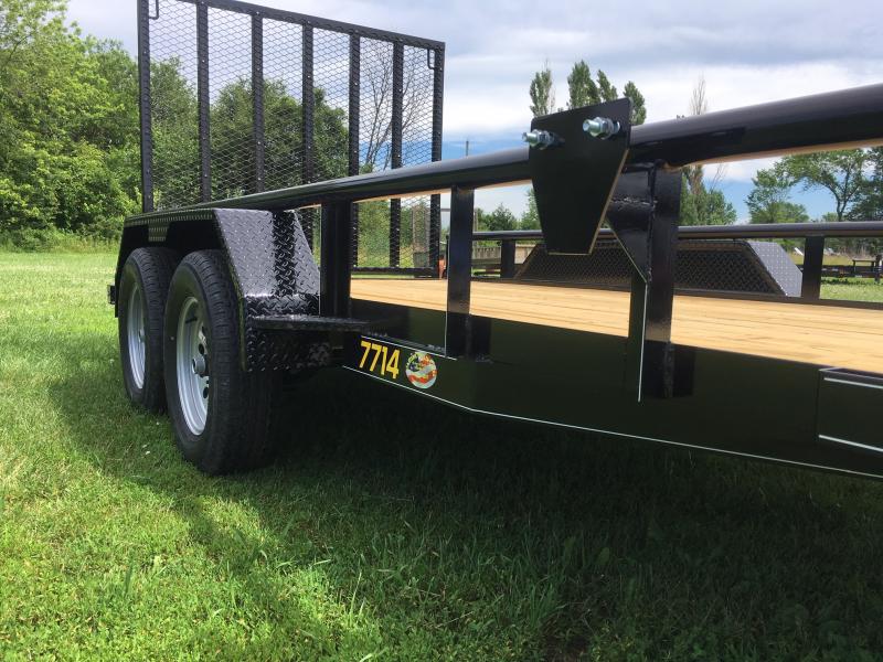 2019 Doolittle Trailer Mfg 77 x 14 PIPE RAIL Utility Trailer 7000 GVWR