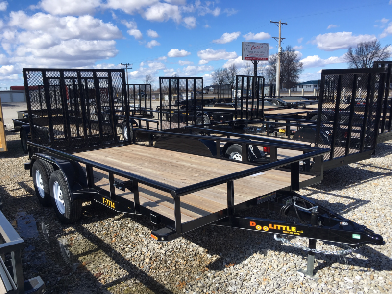 "2019 Doolittle 77"" X 14' PIPE RAIL 7K Utility Trailer"