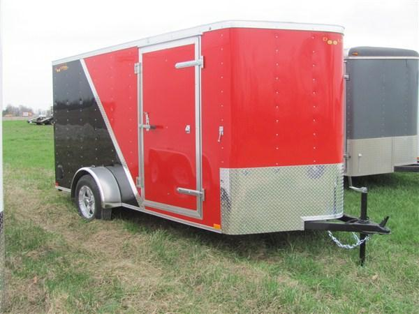 New 2018 Doolittle 6 x 12 Bullitt Rear Ramp Door Enclosed Cargo Trailer