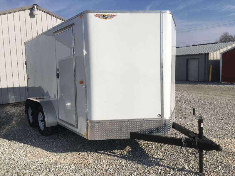 2016 H and H 7 x 12 Enclosed Cargo Trailer