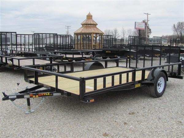 "New 2018 Doolittle 84"" x 14 Pipe Rail SA Utility Trailer w/ATV Side Ramps & Spare Tire"