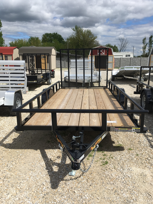 2019 Doolittle Trailer Mfg 77 x 14 Pipe Rail Utility Trailer