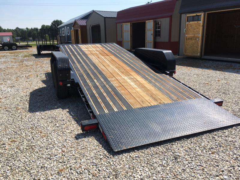 USED 2016 PJ Trailers 82' X 17' TILT + 4' STATIONARY Equipment Trailer 14K GVWR