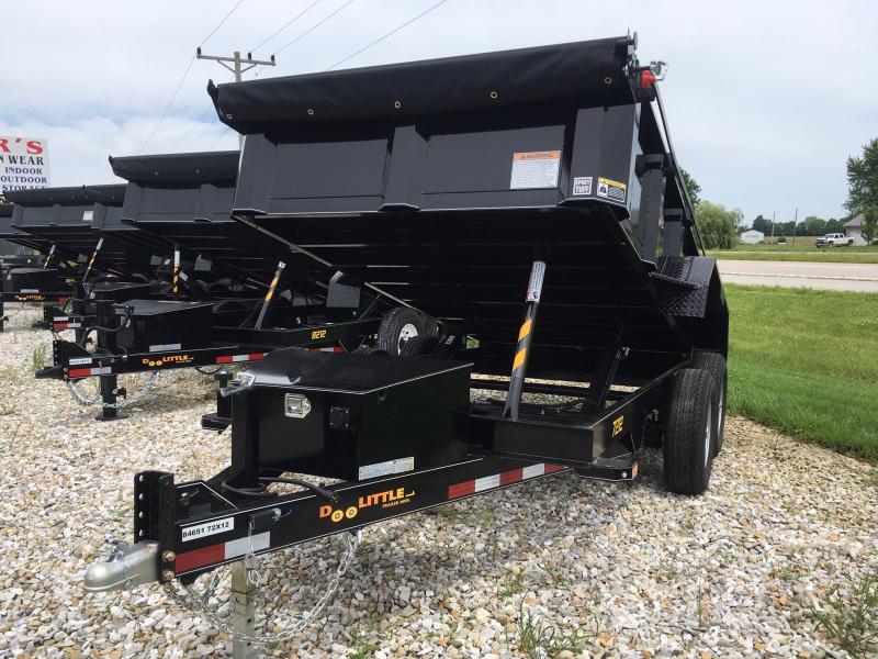 New 2019 Doolittle 72 X 12 MASTER DUMP TRAILER DUAL CYLINDER LIFT 10000 GVWR