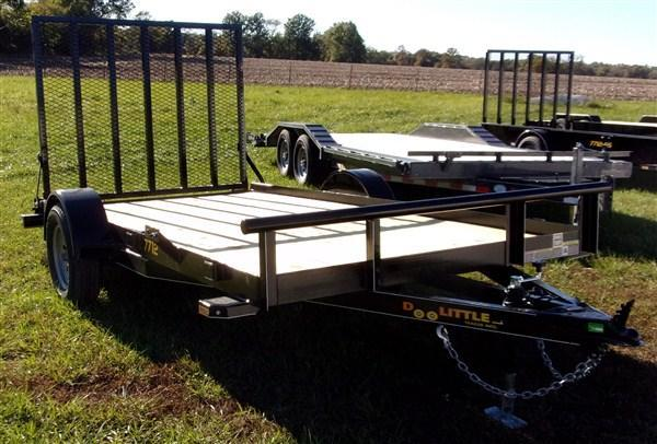 "New 2019 Doolittle 77"" x 12 Pipe Rail SA Utility Trailer"